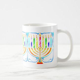 Mug:  Hanukkah Menorah - Chanukah Menorah Basic White Mug