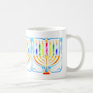 Mug:  Hanukkah Menorah - Chanukah Menorah Coffee Mug