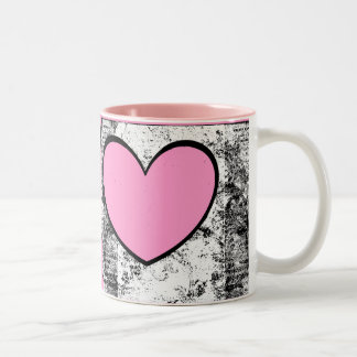 Mug Heart Shape Photo Insert Pink, custom colors