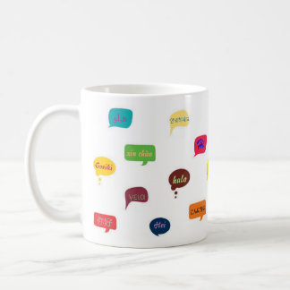 """Mug """"hello"""" in different languages"""