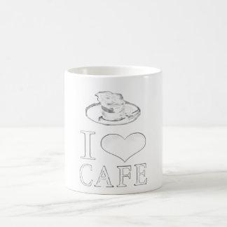 mug - I love cafe fashionable image design