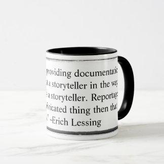 Mug I saw my job as providing documentation Lessin