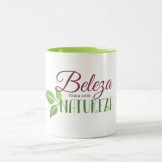 Mug in two tones - Beauty Rhymes With Nature