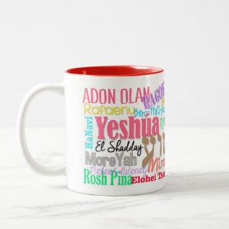 Mug inner color Names of the Messiah