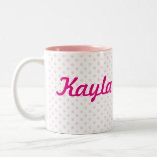 ♥ MUG ♥ KAYLA white pink polka dot girly gift