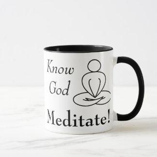 Mug - Know God, Meditate