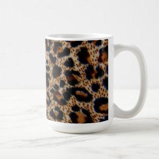 Mug~Leopard Print Design Basic White Mug