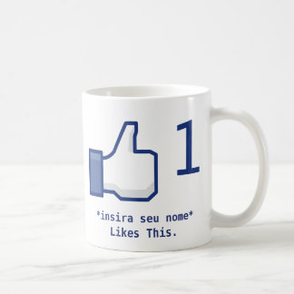 "Mug ""Likes This"" Facebook (Personalizável)"