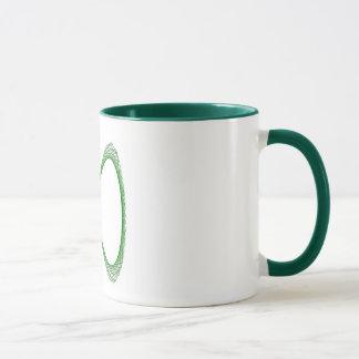 Mug - mathematical mug with green spiral