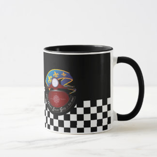 mug, NOSG logo on checkerboard Mug