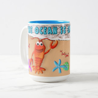Mug - Ocean is calling me - Sealife - Humor