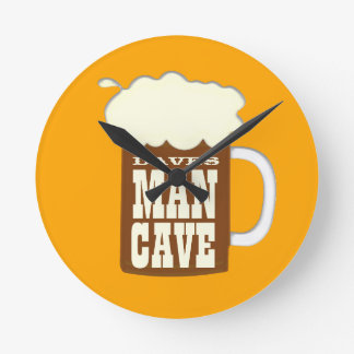 Mug Of Beer Man Cave Wallclock