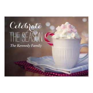 Mug of hot chocolate 13 cm x 18 cm invitation card