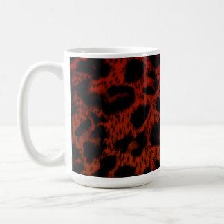 Mug~Orange Leopard Print Basic White Mug