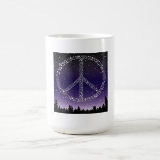 MUG- PEACE STARS BASIC WHITE MUG