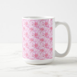 Mug/Pink Roses & Hearts Basic White Mug