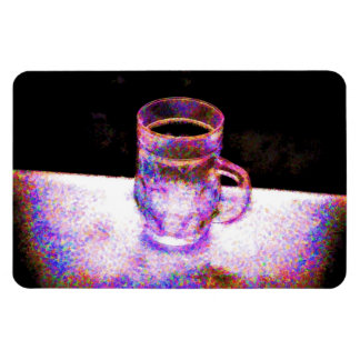 Mug Pointilism Rectangular Photo Magnet