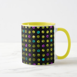 Mug Polka Dots Sparkley Jewels