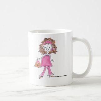 Mug- Pregnant-PinkBrown, copyright Lovie and Dodge Coffee Mug