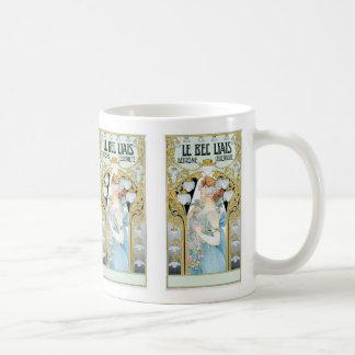 Mug: Privat-Livemont - Art Nouveau - Le bec Liais Basic White Mug