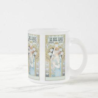 Mug: Privat-Livemont - Art Nouveau - Le bec Liais Frosted Glass Mug