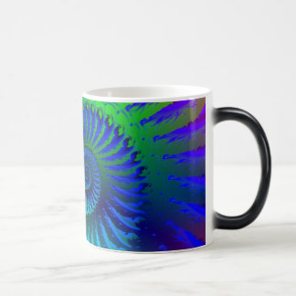 Mug - Psychedelic Fractal blue terquoise green
