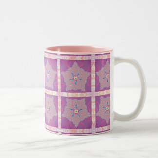 Mug - Purple Star Fractal Pattern