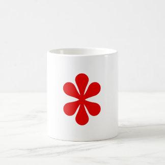 Mug red flower
