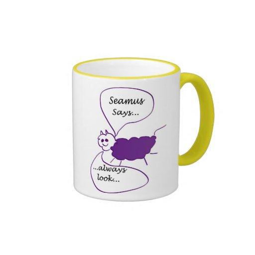 Mug: Seamus the Sheep Says... Bright Side