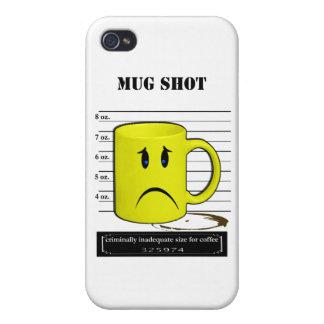 Mug Shot Coffee Mug Cup Cartoon Meme iPhone 4/4S Cover