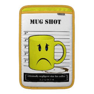 Mug Shot Coffee Mug Cup Cartoon Meme MacBook Sleeve