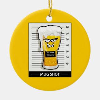 Mug Shot Christmas Tree Ornaments