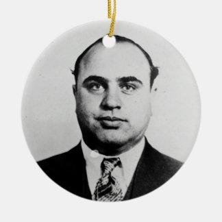 Mug Shot of Chicago Gangster Alphonse Capone 1931 Round Ceramic Decoration