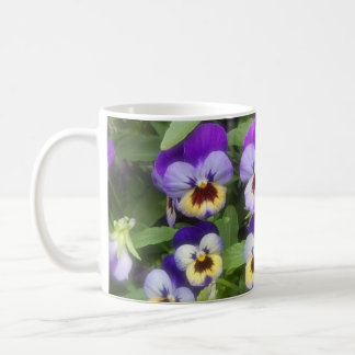 MUG SHOT - PURPLE PANSIES