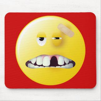 Mug Shot Smiley Face Mouse Mat