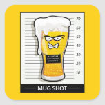 Mug Shot Square Sticker