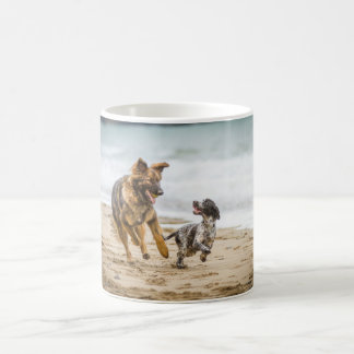 Mug showing German Shepherd Dog and Cockerspaniel