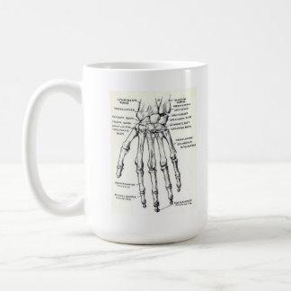 MUG: Skeleton Hand/Anatomy Basic White Mug