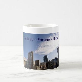 Mug souvenir of Curitiba, Paran3a Brazil