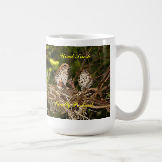 Mug/Stien, baby birds & parents