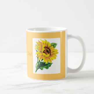 Mug- Sunflower double-sided with saying Basic White Mug