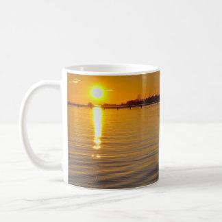 Mug:  Sunset and old watermill Basic White Mug