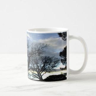 Mug: Sunset Behind Trees Basic White Mug