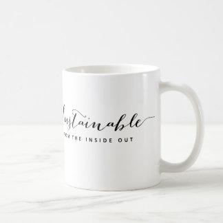 Mug: Sustainable — From the inside out Basic White Mug