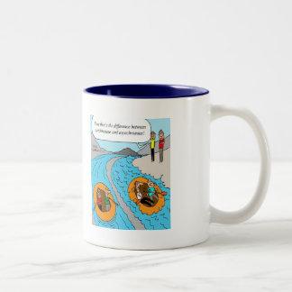 Mug: Synchronous vs. Asynchronous Two-Tone Coffee Mug
