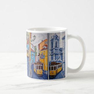 mug tram streets of Lisbon azulejos