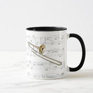 Mug - Trombone (tenor) with sheet music