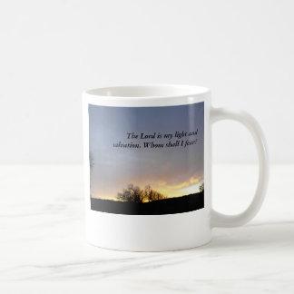MUG, Twilight sky, trees Basic White Mug