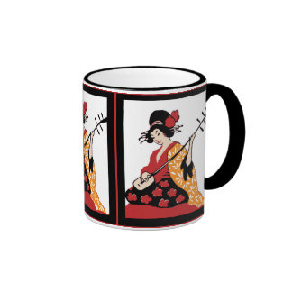 Mug Vintage Art Geisha & Shamisen Mug