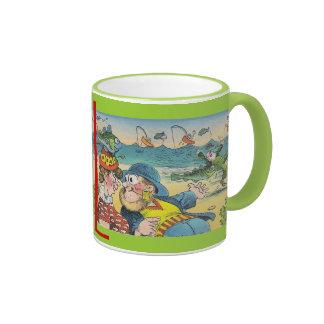 Mug Vintage Beach Vacation Sea Dog & Lady Friend
